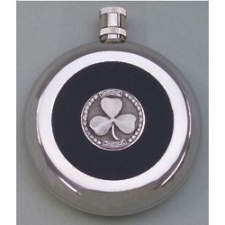 Shamrock Flask with Silver Shot Cup