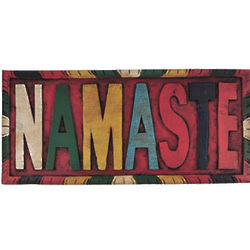 Namaste Hand Carved Sign