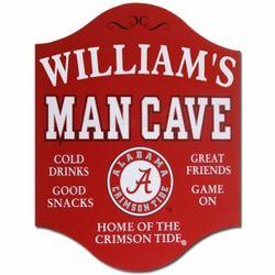 Alabama Personalized Mancave Sign
