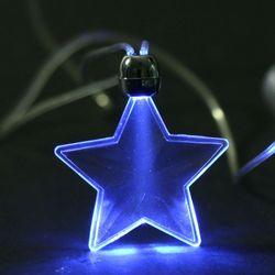 Flashing LED Light Star Necklace