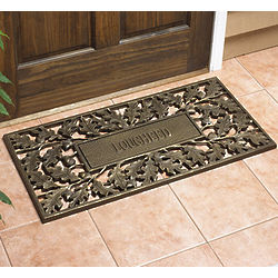 Personalized Recycled Aluminum Oak Leaf Doormat
