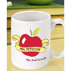 Personalized Big Apple Teacher Coffee Mug