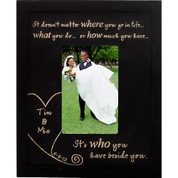 Personalized Beside You Wood Vertical Frame