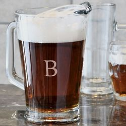 Personalized Classic Glass Beer Pitcher