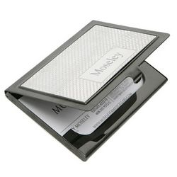Two-tone Gunmetal Business Card Case