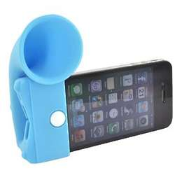 Sky Blue iPhone 4 /4s Silicone Horn