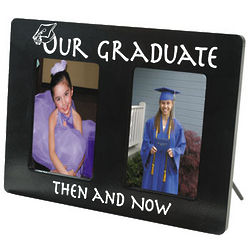 Then and Now Graduation Picture Frame