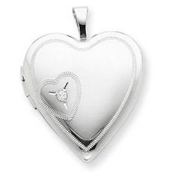 Heart to Heart Locket with Diamond