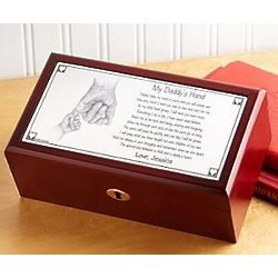 Personalized Daddy's Hand Keepsake Box