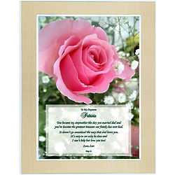 Personalized Stepmom Poem Framed Print
