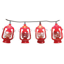 Red Mini Lantern Light Set
