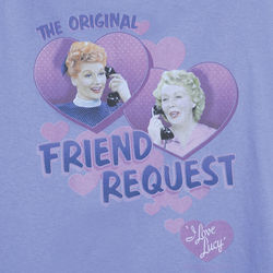 I Love Lucy Friend Request Tee
