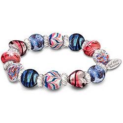 Spirit of America Murano-Style Glass Bracelet