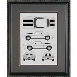 Chevrolet Camaro Blueprint Art Print