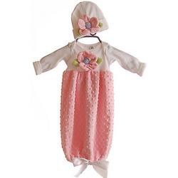 Love and Lace Pink Chenille Gown with Hat