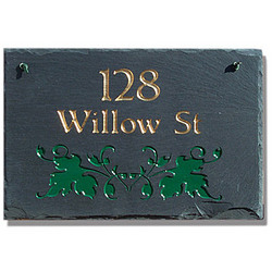 Personalized Ivy Slate Sign