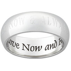 Love Now Engraved Message Stainless Steel Band