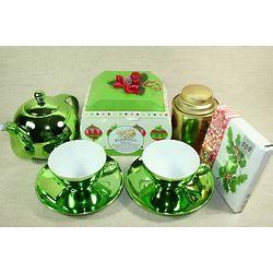 Bright Porcelain Christmas Tea Gift Set
