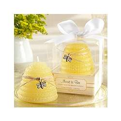 Meant to Bee Honey-Scented Beehive Candle Favor