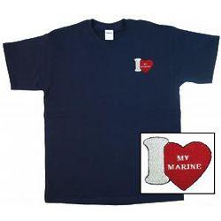 I Love My Marine T-Shirt