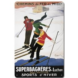 Chemins de Fer du Midi Metal Ski Sign