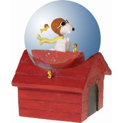 Snoopy Flying Ace Musical Waterglobe
