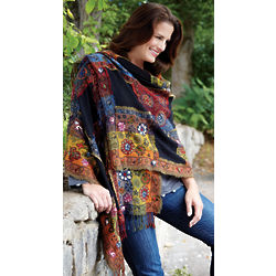 Embellished Wool Wrap