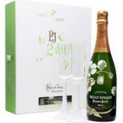 Perrier-Jouet Fleur de Champagne Belle Epoque with Glassware Set