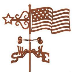 Antique Copper Flag Weathervane