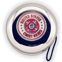 Engraved Coast Guard Insignia Nickel Plated Yo-Yo