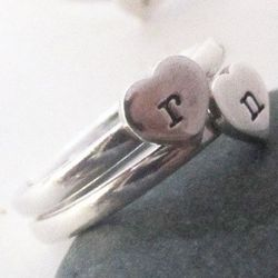 Sterling Silver Personalized Sweetheart Ring