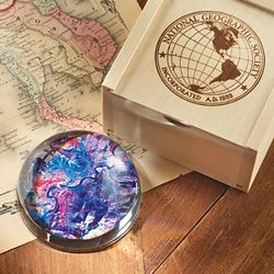 Satellite Map Paperweight