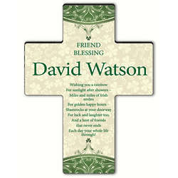 Personalized Classic Irish Friend Blessing Cross