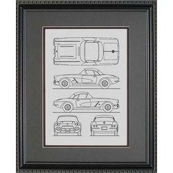 Chevrolet Corvette Blueprint Art Print