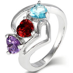 Close to the Heart 3 Stone Birthstone Ring
