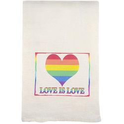 Love Is Love Flour Sack Dish Towel