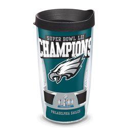 Philadelphia Eagles Super Bowl 52 Champions Tumbler with Lid