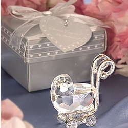 Crystal Baby Carriage Shower Favor