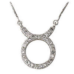 .30ctw Diamond Taurus Zodiac Pendant in 14K White Gold