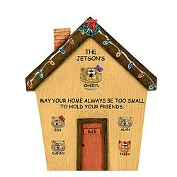 Teddy Bear House Number Plaque