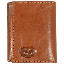 Brown Leather Men's Trifold Wallet