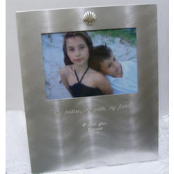 My Mother My Guide My Friend Engraved Satin Silver Photo Frame
