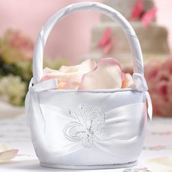 Butterfly Wedding Flower Girl Basket