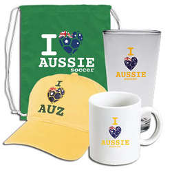 I Heart Aussie Soccer Supporter's Kit