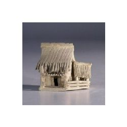 Double Hut Ceramic Figurine