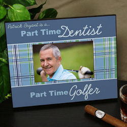 Personalized Part Time Golfer Printed Picture Frame