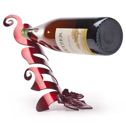 Vino Balancing Wine Bottle Holder with Grape Leaf