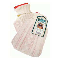 Irish Hot Water Bottle in a White Sweater