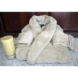 Men's Fleece Robe and Candle Gift Set