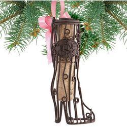 Fashionista Boot Cork Cage Ornament